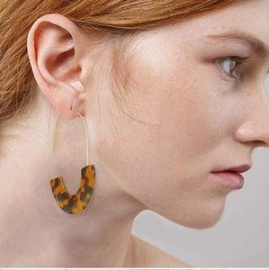 Acrylic Resin Dangle Earrings